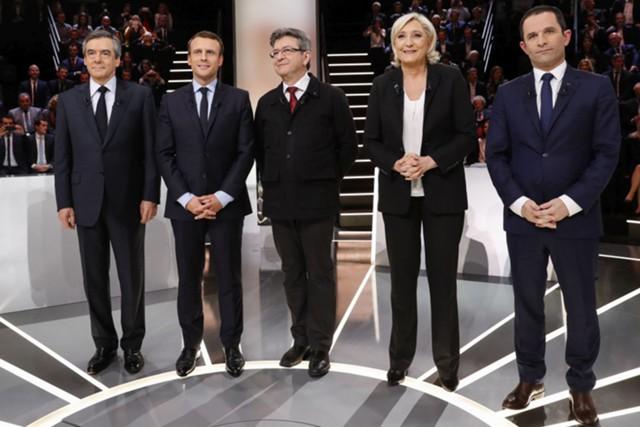 Макрон и Ле Пен - лидеры