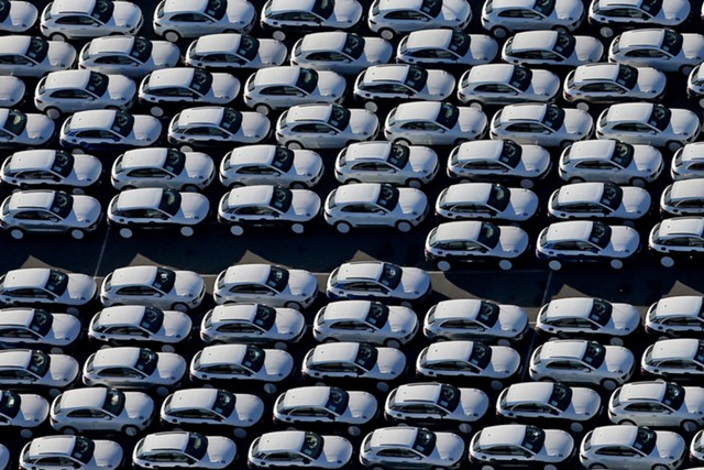 Продажи машин в Европе